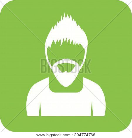 Man, young, portraits icon vector image. Can also be used for Avatars. Suitable for mobile apps, web apps and print media.