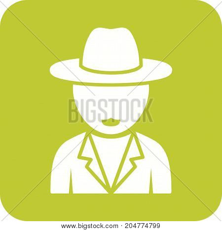 Boy, casual, hat icon vector image. Can also be used for Avatars. Suitable for mobile apps, web apps and print media.