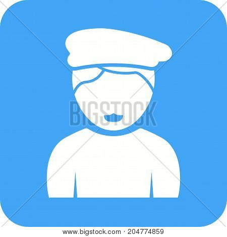 Boy, cap, hat icon vector image. Can also be used for Avatars. Suitable for mobile apps, web apps and print media.