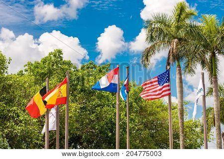 View Of The Flags, Vinales, Pinar Del Rio, Cuba. Close-up.