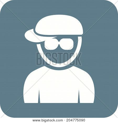 Nerd, hat, style icon vector image. Can also be used for Avatars. Suitable for mobile apps, web apps and print media.