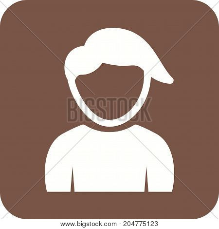 Boy, hair, young icon vector image. Can also be used for Avatars. Suitable for web apps, mobile apps and print media.
