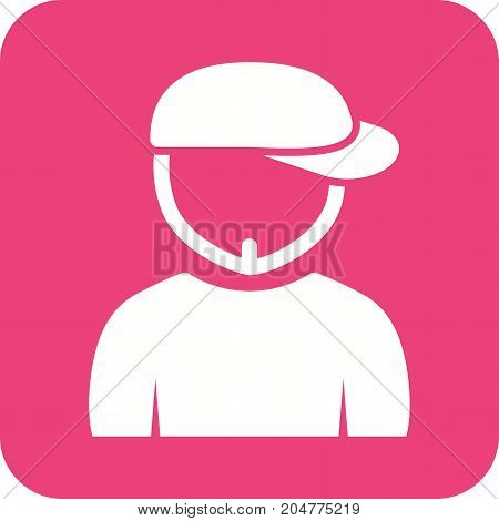Hat, boy, young icon vector image. Can also be used for Avatars. Suitable for use on web apps, mobile apps and print media.