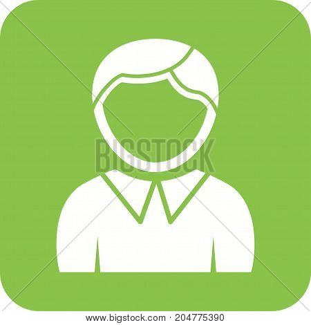 Man, business, laptop icon vector image. Can also be used for Avatars. Suitable for use on web apps, mobile apps and print media.