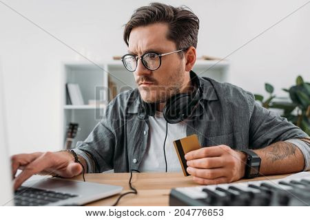 Man Making E-shopping