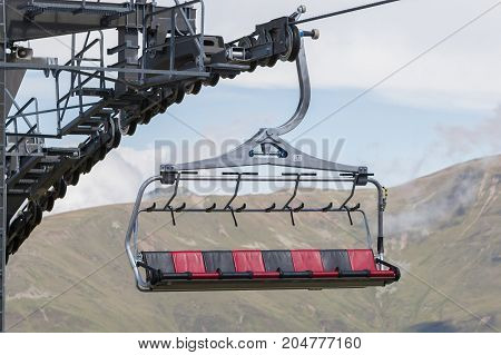 Ski Lift Cable Booth Or Car