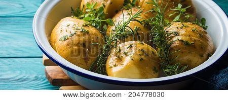 Raw Potatoes To Cook With Herbs