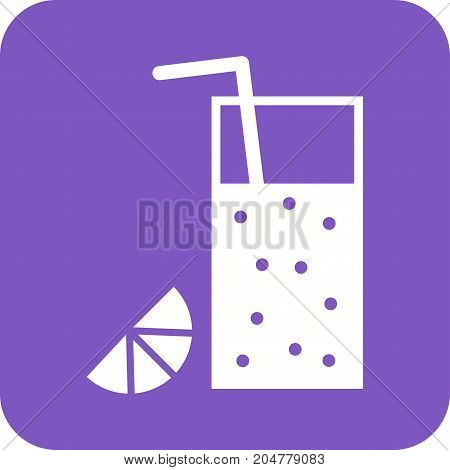Juice, drink, lemon icon vector image. Can also be used for Cafe and Bar. Suitable for use on mobile apps, web apps and print media.