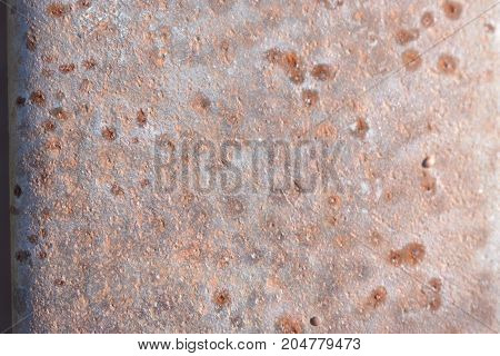 beautiful rust background on steel sheet metal