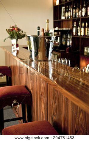 Inside A French Pub