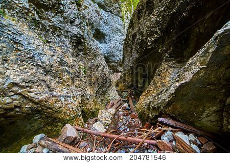 Cave In The Limestone Mountains