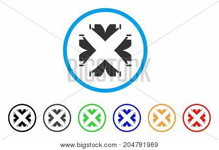 Tent Camp rounded icon. Style is a flat tent camp grey symbol inside light blue circle with black, gray, green, blue, red, orange versions. Vector designed for web and software interfaces.