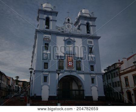 Exterior view to Misericordia church at Angra do Heroismo Terceira Portugal