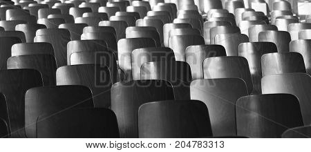Auditorium / Many chairs in the auditorium