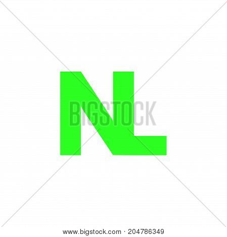 nl initial logo design, letter initial logo design
