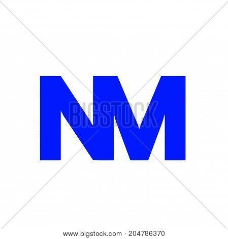 nm initial logo design, letter initial logo design
