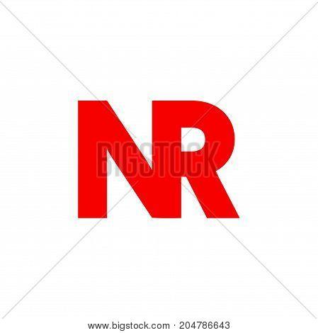 nr initial logo design, letter initial logo design