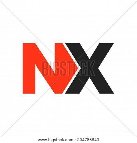 nx initial logo design, letter initial logo design