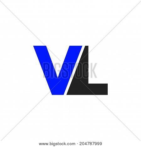 Vl Initial Logo Vector Photo Free Trial Bigstock