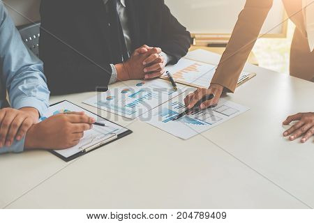 Business Women Making A Presentation With Whiteboard. Business Executive Delivering A Presentation T