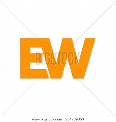 ew initial logo design, intial logo design