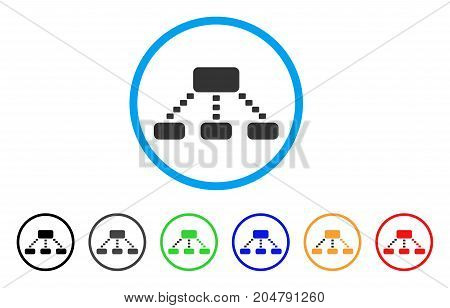Dotted Scheme rounded icon. Style is a flat dotted scheme grey symbol inside light blue circle with black, gray, green, blue, red, orange color versions.