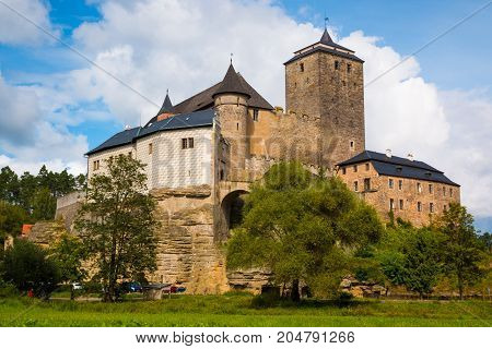View of kost castle, gothic castle in bohemia in Czech republic