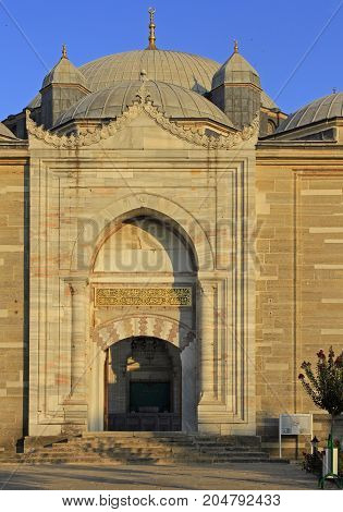 The Entrance To Selimiye Mosque In Edirne