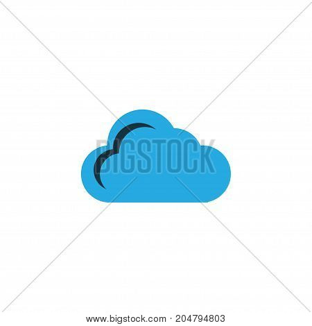Premium Quality Isolated Storage Element In Trendy Style.  Cloud Colorful Icon Symbol.