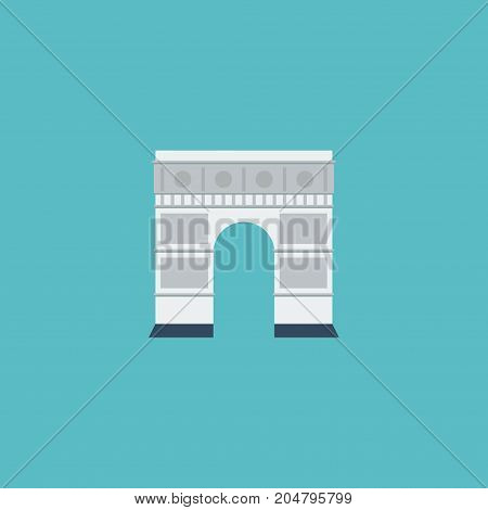 Flat Icon Triumphal Arch Element. Vector Illustration Of Flat Icon Archway Isolated On Clean Background