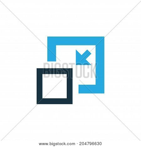 Premium Quality Isolated Decrease Element In Trendy Style.  Minimize Colorful Icon Symbol.