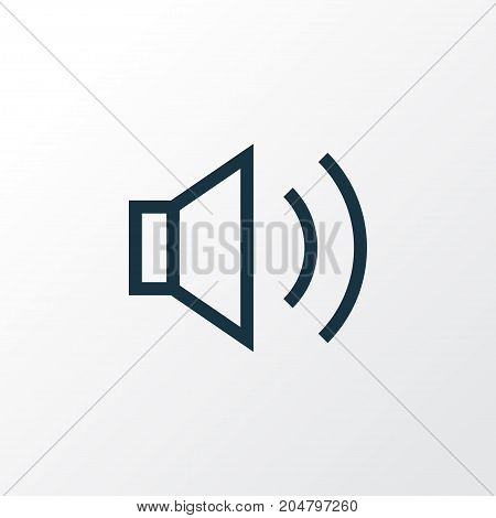 Premium Quality Isolated Sound Element In Trendy Style.  Audio Outline Symbol.
