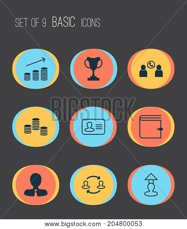 Human Icons Set. Collection Of Manager, Talking, Wallet And Other Elements