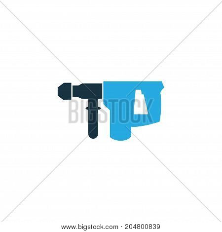 Premium Quality Isolated Hammer Element In Trendy Style.  Electric Instrument Colorful Icon Symbol.