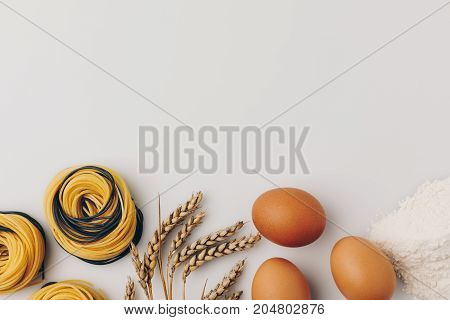 Pasta Nests And Ingredients