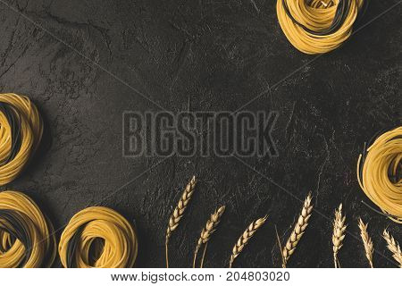 Raw Pasta And Wheat Frame