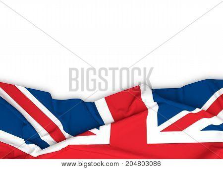 UK, Union Jack, British flag on white background with clipping path. 3D illustration