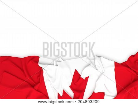 Flag of Canada on white background with clipping path. 3D illustration