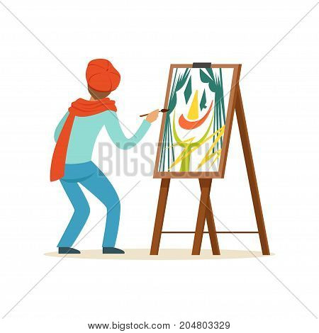 Girl At Easel Artist  English Painting