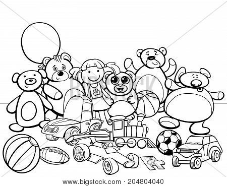 Toys Group Cartoon Coloring Book