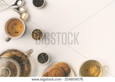 Herbal Tea With Cookies
