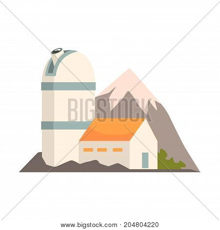Observatory station cartoon vector Illustration on a white background