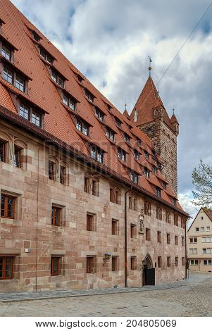 Building of former imperial stables near Nuremberg castle Germany