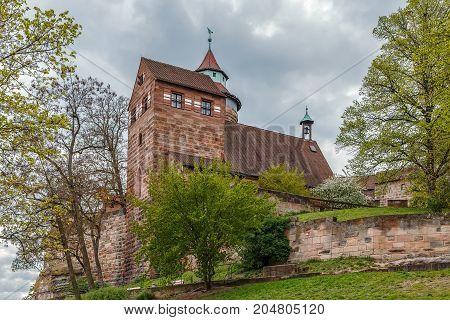 Walburgiskapelle chapel is part of the buildings of the Nuremberg Castle Nuremberg Germany