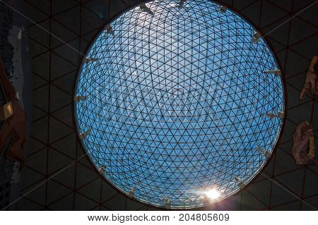 Glass Sphere On The Dali Museum In Figueres, Spain.