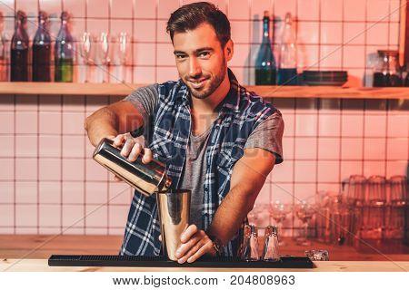 Barman Preparing Cocktail