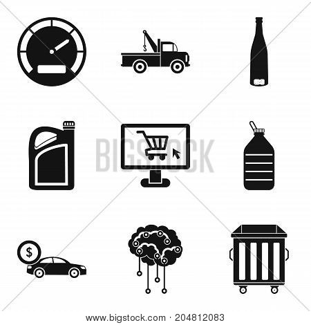 Car repair service icons set. Simple set of 9 car repair service vector icons for web isolated on white background