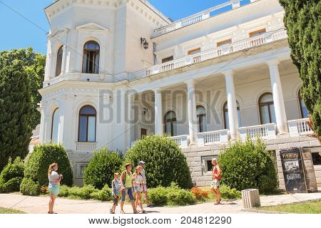 Yalta, Crimea - 11 July, Architectural details of the Levadsky Palace., 11 July, 2017. Architecture of the Levada Palace in Yalta.