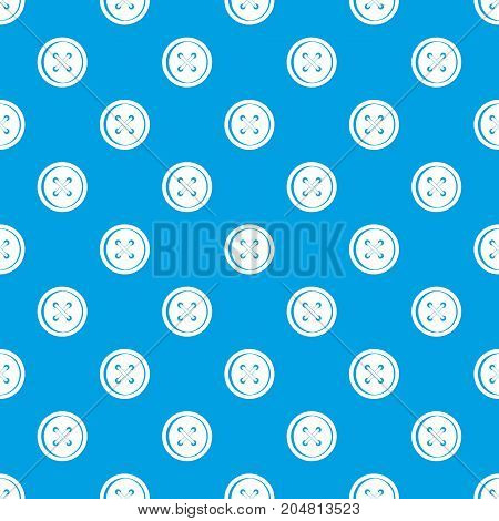 Plastic button pattern repeat seamless in blue color for any design. Vector geometric illustration