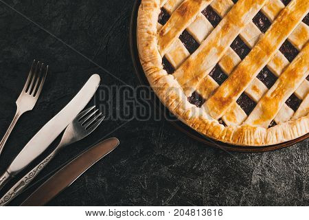 Berry Pie And Silverware